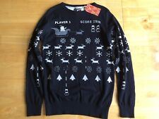 NEXT Video Game Style Christmas Jumper - 12 Years