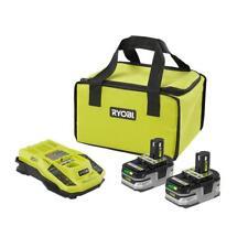 Ryobi P165 18V Lithium Battery Starter Kit 2X 3.0ah Battery + Charger + Bag -NEW