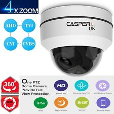 5MP Home Security UHD 1920P PTZ Dome CCTV DVR Camera Pan tilt 4x Optical Zoom