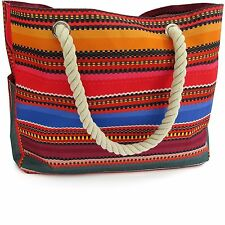 Baja Beach Bag Waterproof Canvas Tote - Large Shoulder Bag with zipper pocket