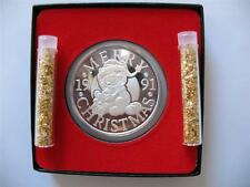 1-Oz.999 Silver Christmas Garfield Paws Engravable1991 Coin Gift Box+Gold
