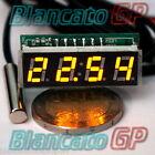 MICRO TERMOMETRO DIGITALE -30~70℃ LED GIALLO NTC termistore auto moto camper kfz