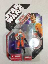STAR WARS 30TH ANNIVERSARY REBEL PILOT BIGGS DARKLIGHTER WITH COIN A NEW HOPE