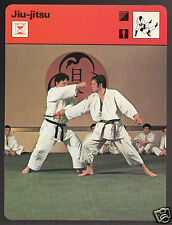 JIU-JITSU Martial Arts Sports History Photo 1979 SPORTSCASTER CARD 18-06A