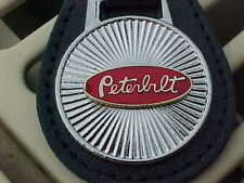 PETERBILT OVAL TRUCK LOGO ON STARBURST LEATHER KEY FOB MINT BEST QUALITY PRODUCT
