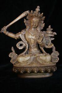 Manjusri statue resin 15cm