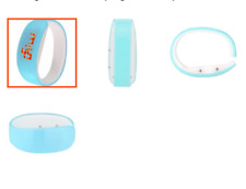 Konektopshop LED Bracelet Digital Bangle Watch - Light Blue