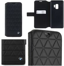 Genuine BMW Signature Embossed Hexagon Leather Book Case Samsung S9