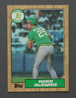 1987 TOPPS #366 -- MARK McGWIRE -- Oakland Athletics BASEBALL CARD