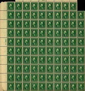 US #405 1c Wash. Sheet of 99/Imprints XIII MNH Pef 12 (CV $1,500 as Singles)