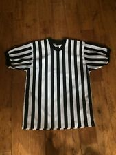 Alleson Referee Jersey Black White Striped Whistle Loop Size M