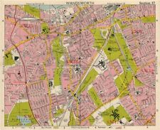 SW LONDON. Wandsworth E Putney Wimbledon Earlsfield Southfields. BACON 1963 map