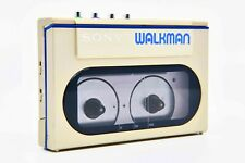RARE Sony WM-10 Cassette Walkman, Collectible GOLD/BLUE Color with Accessories