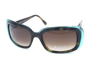 Face A Face Paris Monoi 5 Black Green 708 Sunglasses Brown Lens 56-19 NEW Italy