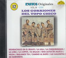 Los Gorriones Del Topo Chico Exitos Originales Vol 3 CD New