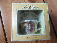 ROYAL DOULTON BRAMBLY HEDGE MINIATURE WINTER CUP AND SAUCER BOXED 1ST QUALITY