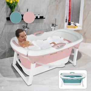 Large Folding Bathtub Portable Adult Indoor Soak Sauna Warm SPA Massage Barrel