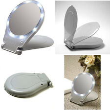 Floxite Model FL-10LFM LED Lighted Travel and Home 10X Magnifying Mirror