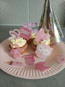 20 pieces BABY BOY/GIRL SET - Edible Cupcake Wafer/ Rice Paper or Icing