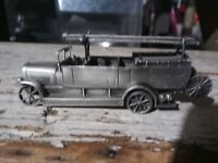 "1988 Franklin Mint Pewter Fire Engines of the World Magirus ""ULM"" Autospritze"