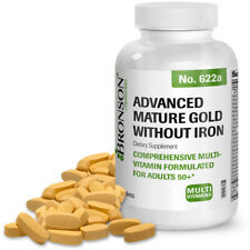 Bronson For Seniors Advanced Mature Gold without Iron Multivitamin, 120 Tablets