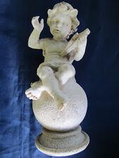 """statue """"ANGELOT HARPE""""  Résine hauteur 22 cm occasion"""