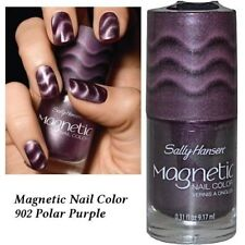 2 X PACK SALLY HANSEN MAGNETIC NAILPOLISH SILVER ELEMENTS POLAR PURPLE TWIN