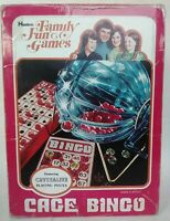 1976 Vintage BINGO Spinner Tumbler Revolving Clear Cage Hasbro Game VTG Complete