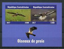 Central African Republic 2017 MNH Birds of Prey 2v M/S II Raptors Stamps
