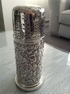 MASSIVE EMBOSSED  SUGAR CASTER  197.2 GRAMS