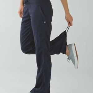 Lululemon Black Dance Studio Athletic Pants  LINED Yoga Women's Size 4