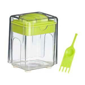 Plastic Potato Chipper Lime Green/Clear Home Restaurant Kitchen Accessory