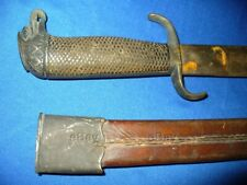 Span-Am Cuban Rebel Machete 87 Officer Sword Leather Scabbard 16 Collins Eagle
