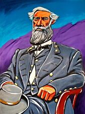 GENERAL ROBERT E LEE PRINT poster civil war confederate military history soldier