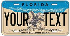 PERSONALIZED CUSTOM FLORIDA TURTLE VANITY LICENSE PLATE AUTO TAG