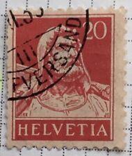 Helvetica-Switzerland stamps - William Tell    20 Swiss centime  1930's?