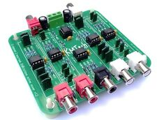 2 Channel 3 way inc sub 12dB/oct OPA2134 active crossover filter Buttkicker