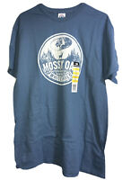 Delta Mossy Oak Whitetails Hunting Mens S/S Blue T Shirt Size Large 42-44 Deer