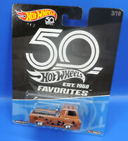 Mattel Hot Wheels Cars EST.1968 Favoritos 3/10` 60`S Ford Econoline Pickup