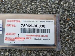 TOYOTA OEM 14-18 Highlander Front Door-Black Out Tape Left 759690E030