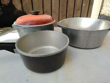 Vintage Retro Club Casserole Large Dish / Pot x3 With 1 Lid