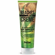 Pro Tan Beaches & Creme Dark Tanning Sunbed Gelee Lotion Carrot Oil + Free GIFT