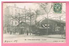 CPA -  LYON - 69 -  LYON -  CROIX ROUSSE -  LA GARE  - TRAIN