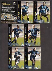LOTTO DI 7 FIGURINA CARDS WIZARDS FOOTBALL CHAMPIONS 2003-04 INTER