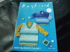 Hayfield Baby Blossom Chunky Sweater and Tank Pattern 4862 Birth to 7 Years