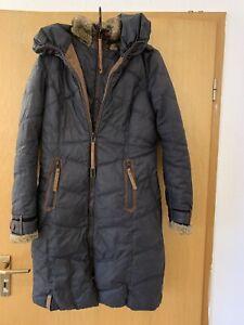 ❄️ Naketano Damen Mantel Jacke Größe XS schwarz Winterjacke Wintermantel