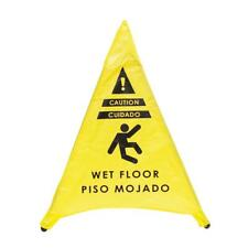 Pop Up Tent Caution Triangle Shaped Wet Floor Sign 20in For Restaurant Commerci