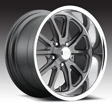 "CPP US Mags U111 Rambler Wheels Rims, 20x8"" front + 20x9.5"" rear, 5x5"", GRAY"