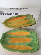 Vintage ceramic Corn on The Cob serving plate JAPAN Caldors new in box