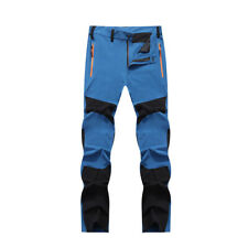 Mens Waterproof Cargo Walking Trousers Outdoor Sport Climbing Hiking Rain Pants